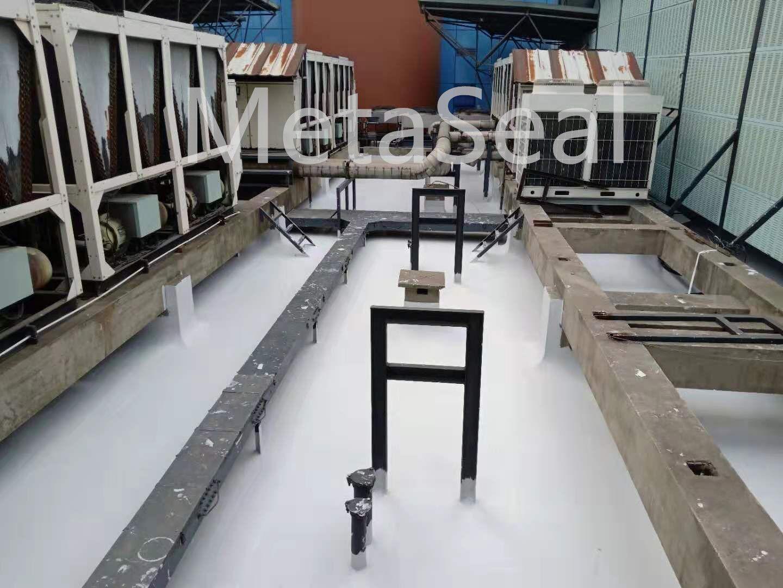 多管道柱脚的办公楼屋面防水